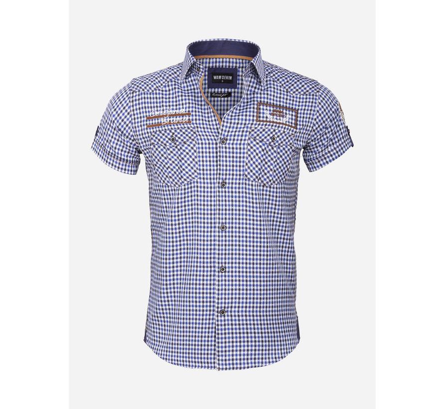 Overhemd Korte Mouw 75572 Traviso Light Royal Blue