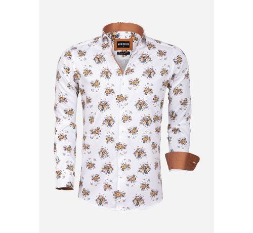 Wam Denim Overhemd Lange Mouw 75577 Sassari White