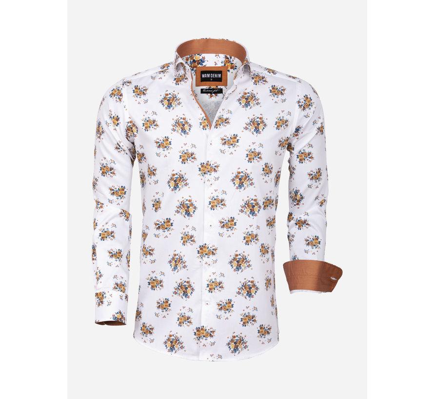 Overhemd Lange Mouw 75577 Sassari White