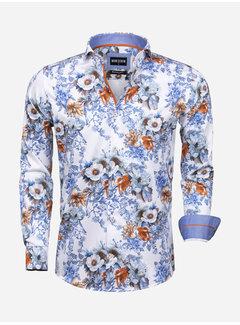 Wam Denim Overhemd Lange Mouw Siracusa White
