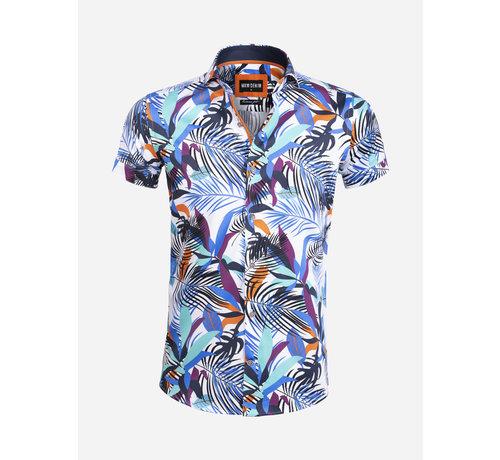 Wam Denim Overhemd Korte Mouw 75583 Bologna White