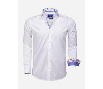 Wam Denim Overhemd Lange Mouw 75593 Durham White