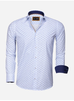 Arya Boy Overhemd Lange Mouw 85282 White Blue