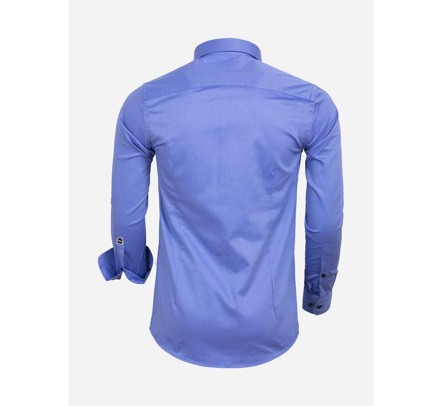 Overhemd Lange Mouw 75592 Dark Blue