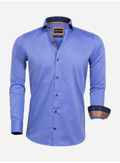 Wam Denim Overhemd Lange Mouw 75592 Dark Blue