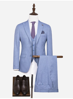 Arya Boy Plaid Vest  80010  Winchester Blue