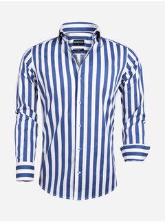 Wam Denim Overhemd Lange Mouw 75588 White Navy