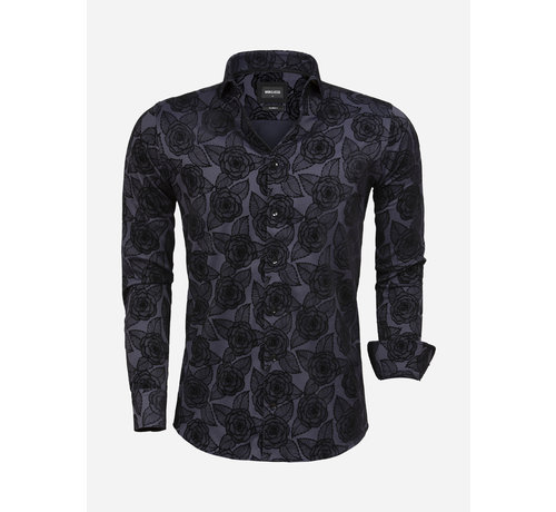 Wam Denim Overhemd Lange Mouw 75616 Navy