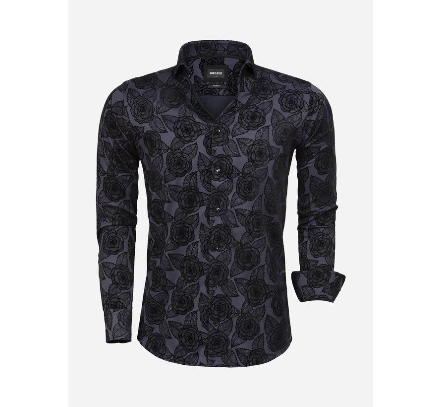 Overhemd Lange Mouw 75616 Navy