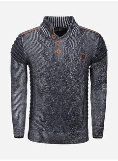 Wam Denim Sweater 67004 Navy Off White