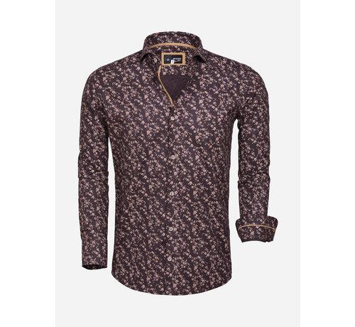 Arya Boy Overhemd Lange Mouw 85281 Brown