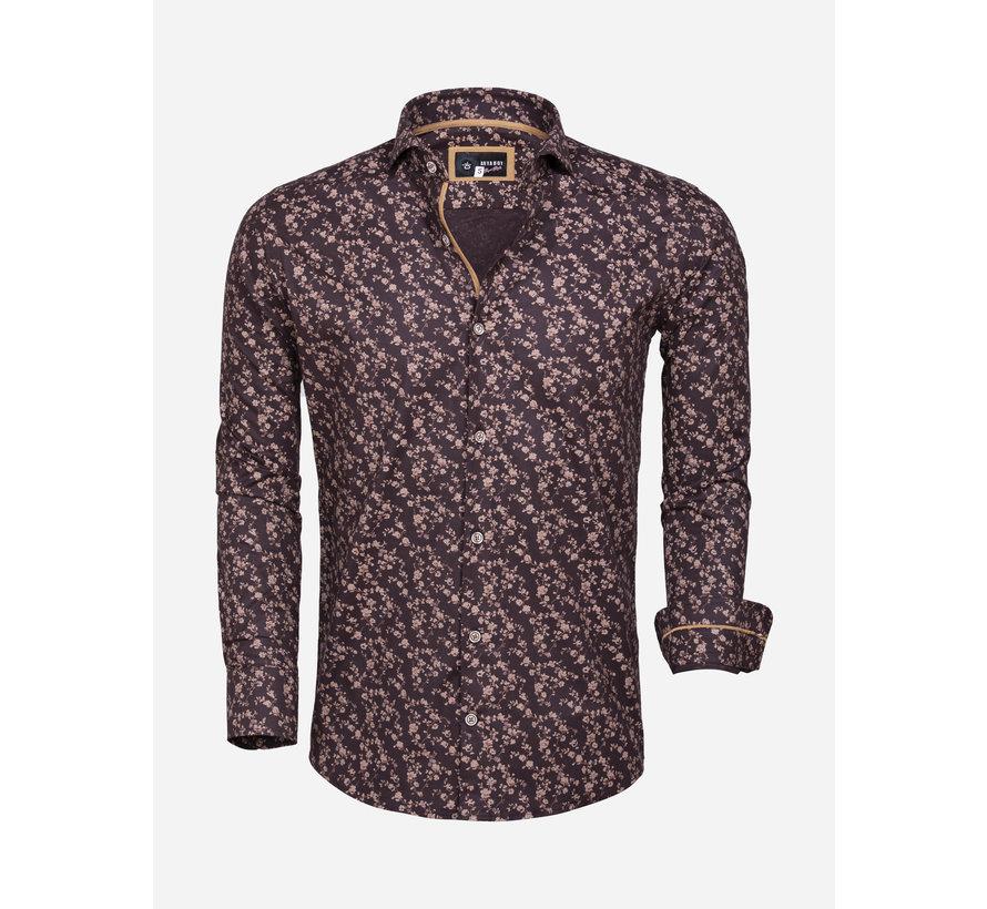 Overhemd Lange Mouw 85281 Brown