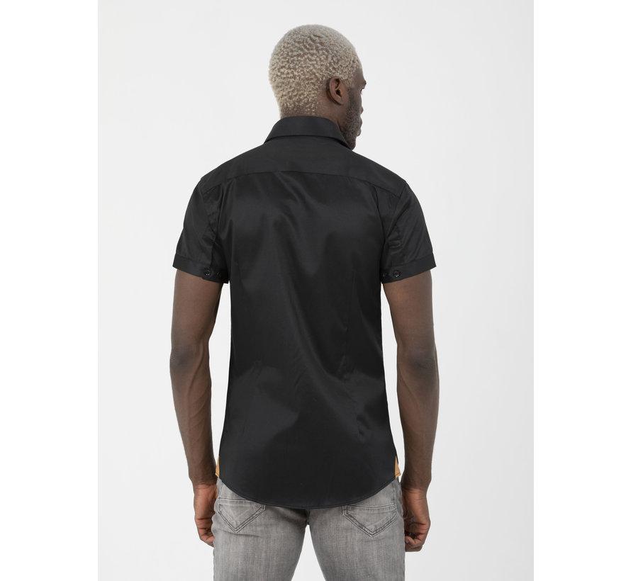 Overhemd Korte Mouw Flaes Black