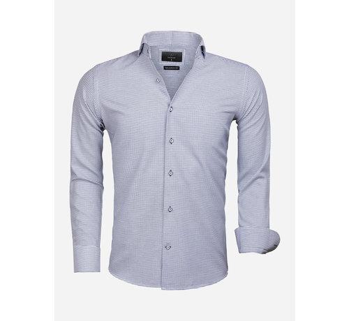 Gaznawi Overhemd Lange Mouw 65020 Alghero Navy