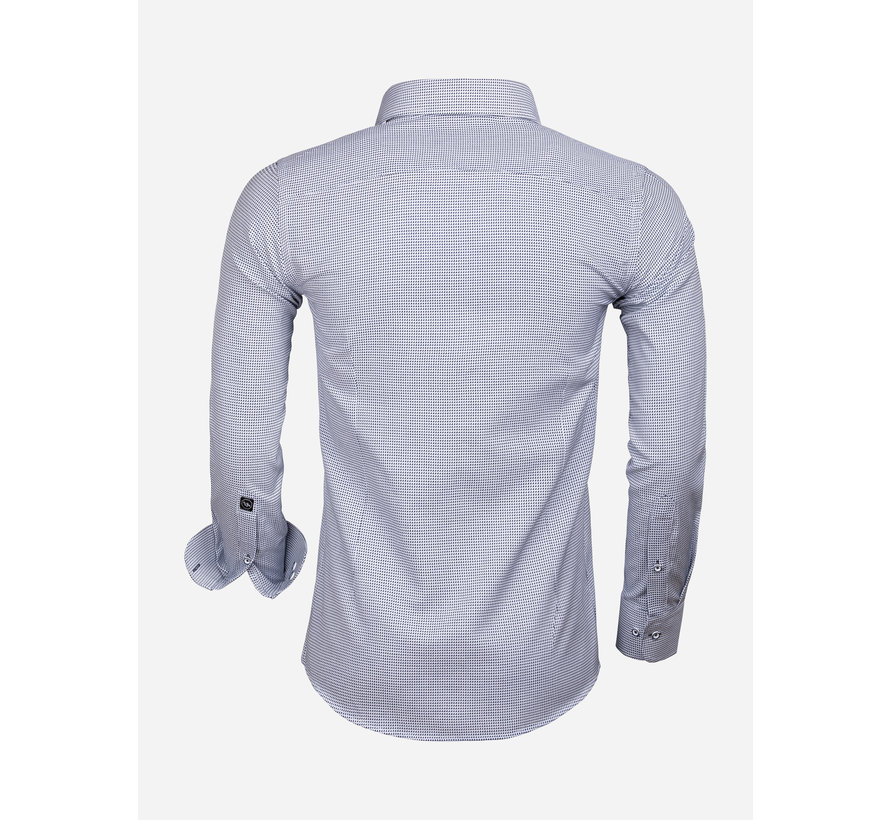 Overhemd Lange Mouw 65020 Alghero Navy