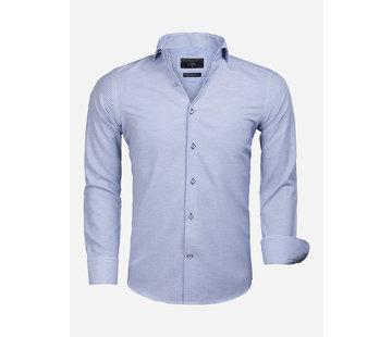 Gaznawi Overhemd Lange Mouw 65020 Alghero Royal Blue