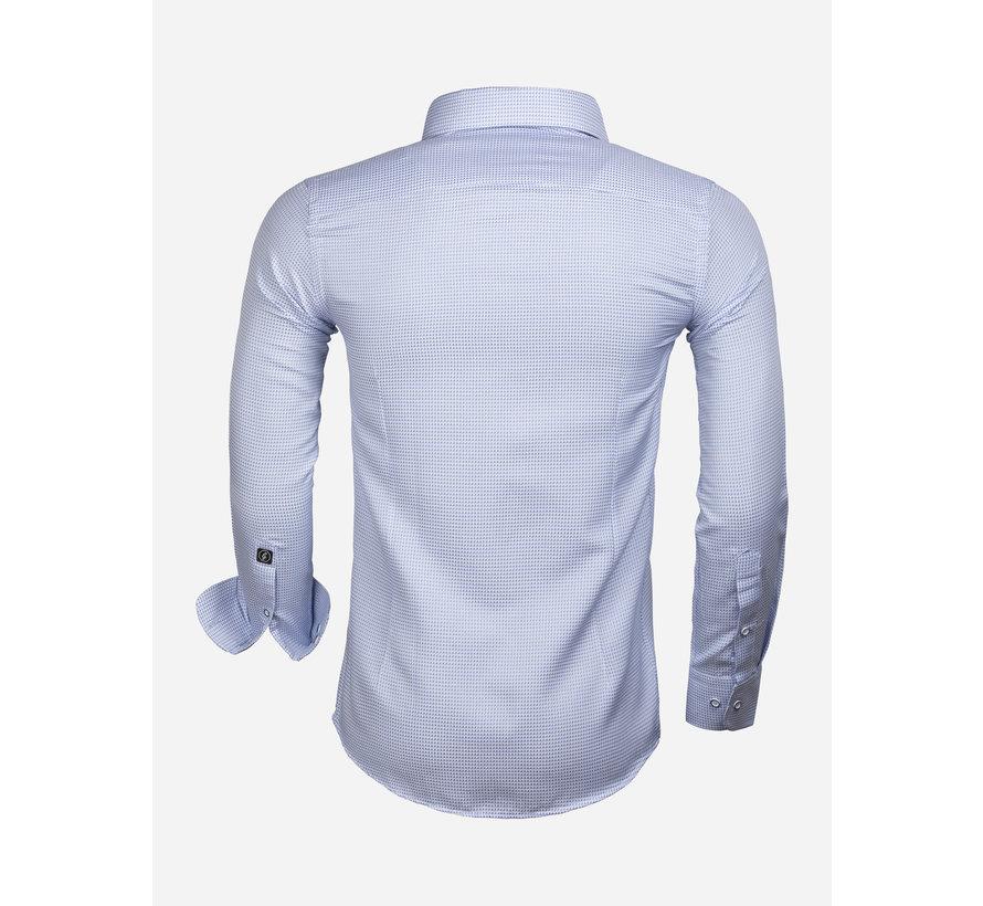 Overhemd Lange Mouw 65020 Alghero Blue