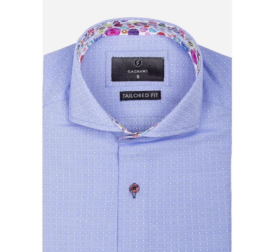 Overhemd Korte Mouw 65038 Modena Blue