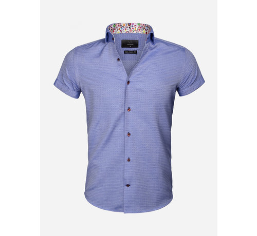 Gaznawi Overhemd Korte Mouw 65038 Modena Royal Blue