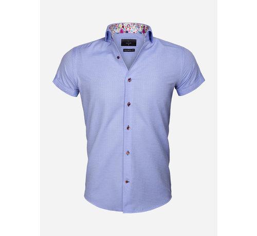 Gaznawi Overhemd Korte Mouw 65038 Modena Blue