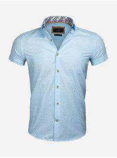 Gaznawi Overhemd Korte Mouw 65039 Narni LightTurquoise