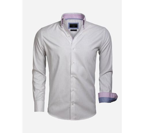 Gaznawi Shirt Long Sleeve 65004 Cenova White Anthracite