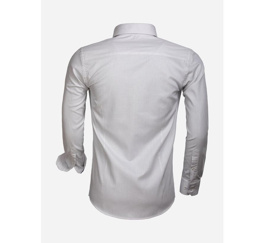 Shirt Long Sleeve 65004 Cenova White Anthracite