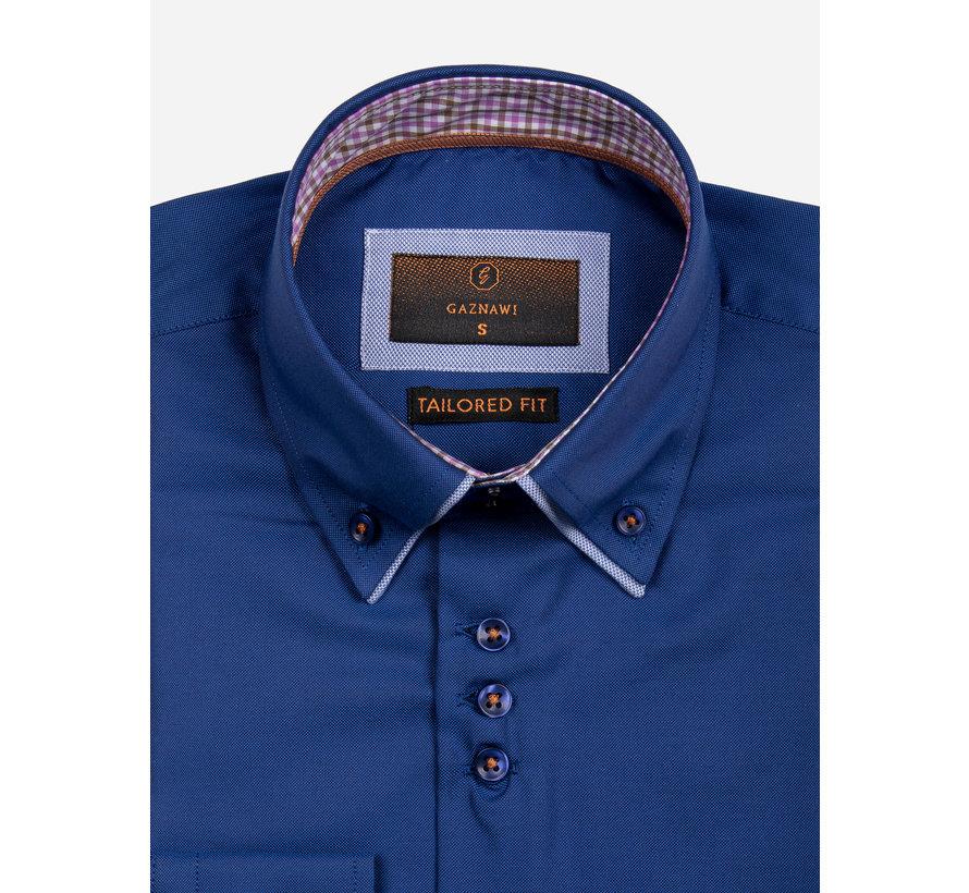 Overhemd Lange Mouw 65002 Castrovillari Light Navy