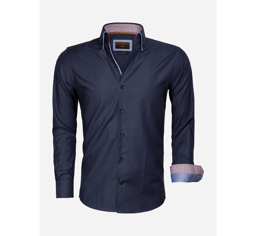 Overhemd Lange Mouw 65002 Dark Navy