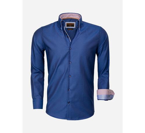 Gaznawi Overhemd Lange Mouw 65002 Castrovillari Light Navy