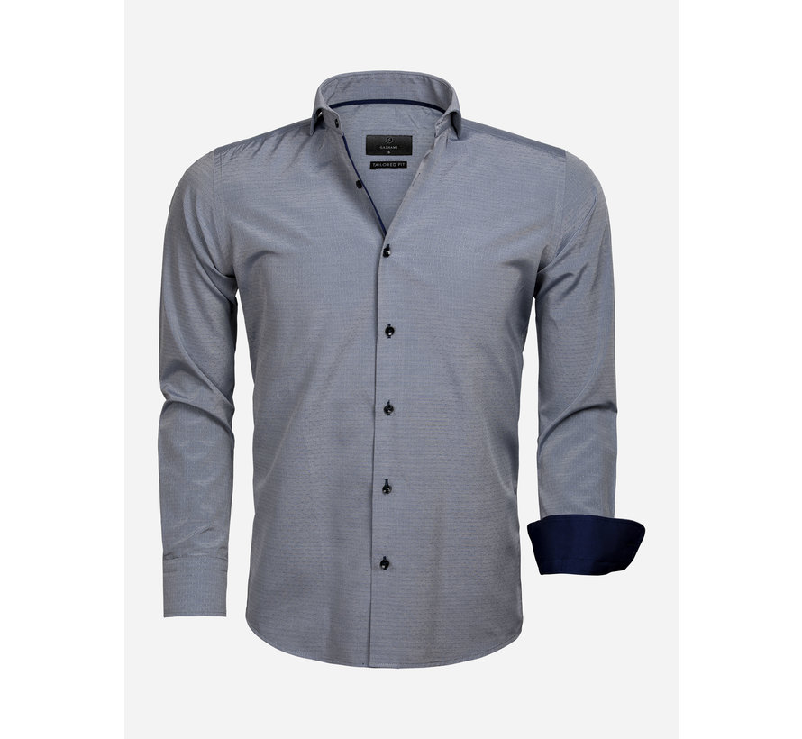 Shirt Long Sleeve 65022 Aosta Navy White