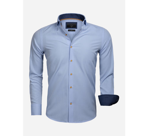 Gaznawi Overhemd Lange Mouw 65032 Blue