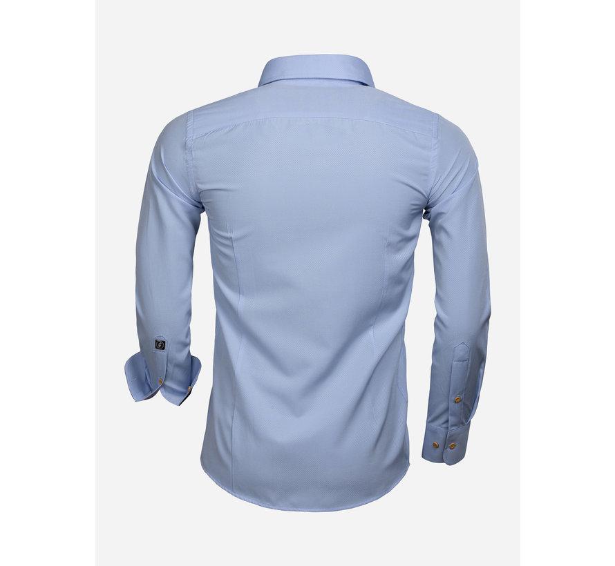 Overhemd Lange Mouw 65032 Blue