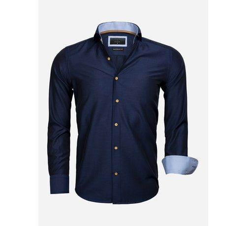 Gaznawi Overhemd Lange Mouw 65032 Dark Navy