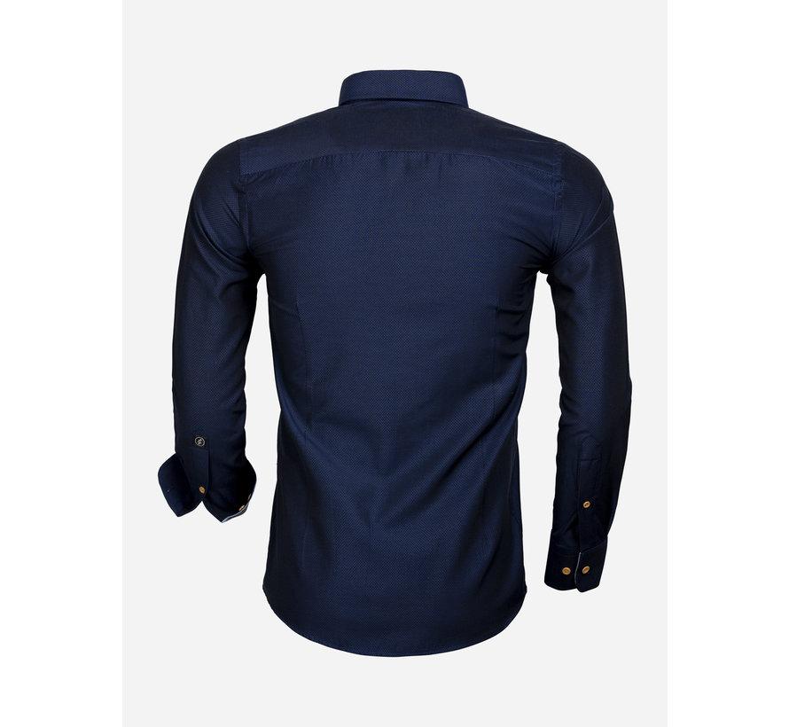 Overhemd Lange Mouw 65032 Dark Navy