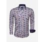Overhemd Lange Mouw 65036 White Royal Blue