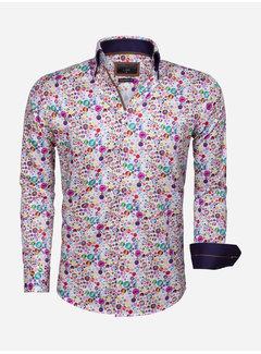Gaznawi Shirt Long Sleeve 65036 White Orange