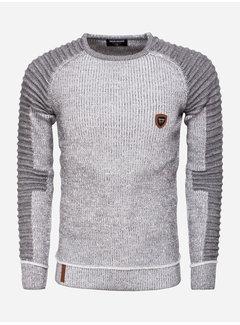 Wam Denim Sweater 77223 Anthracite White