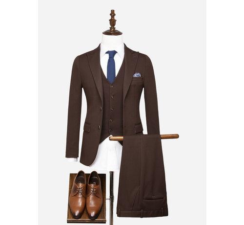 Wam Denim Kostuum 70054 Le Havre Brown