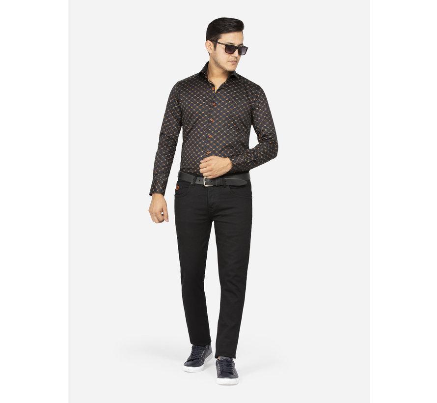 Overhemd Lange Mouw Valencia 75598 Black