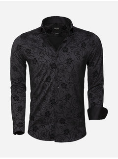 Wam Denim Overhemd Lange Mouw 75612 Black