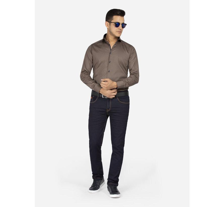 Overhemd Lange Mouw 75608 Badalona Brown