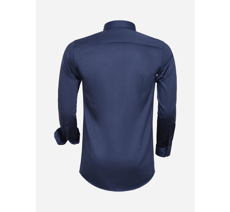 Overhemd Lange Mouw 75595 Navy