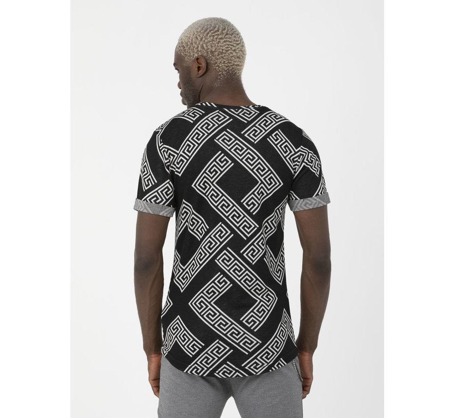 T-Shirt Aubonne Black White