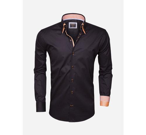 Wam Denim Overhemd Lange Mouw 75286 Black