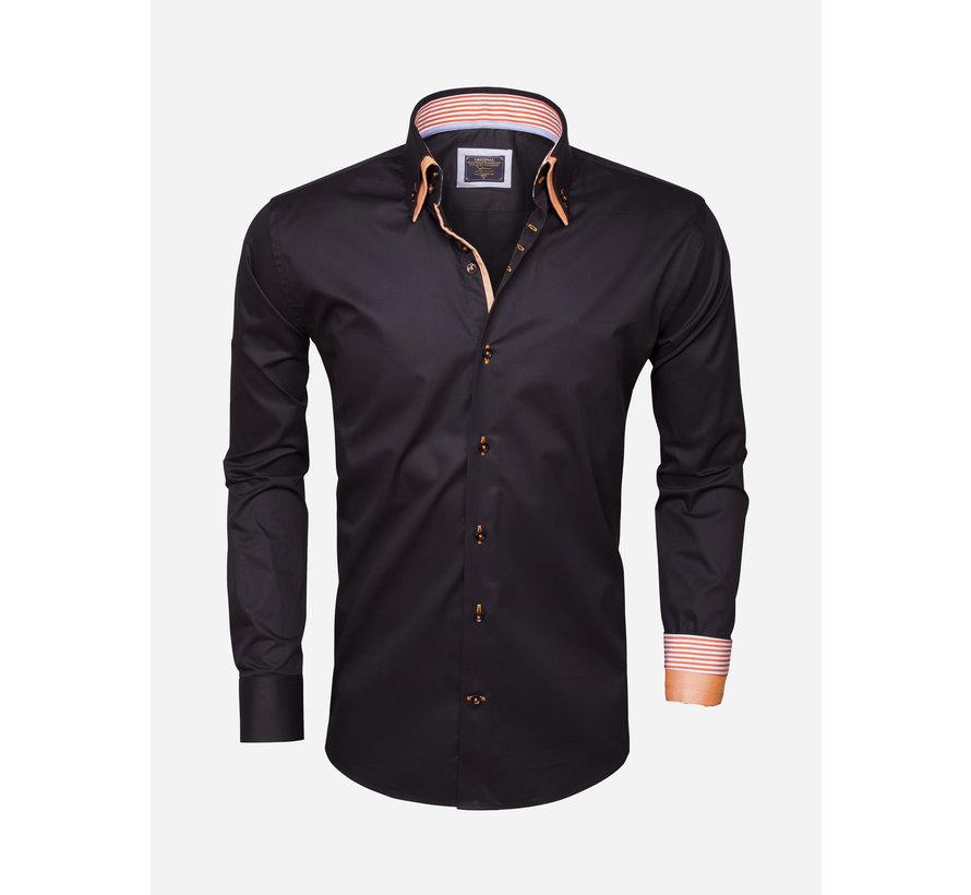 Overhemd Lange Mouw 75286 Black