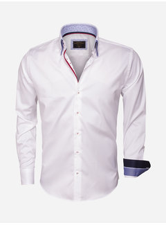 Wam Denim Overhemd Lange Mouw 75406 White