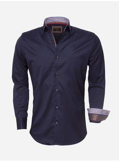 Wam Denim Overhemd Lange Mouw  75418 Navy