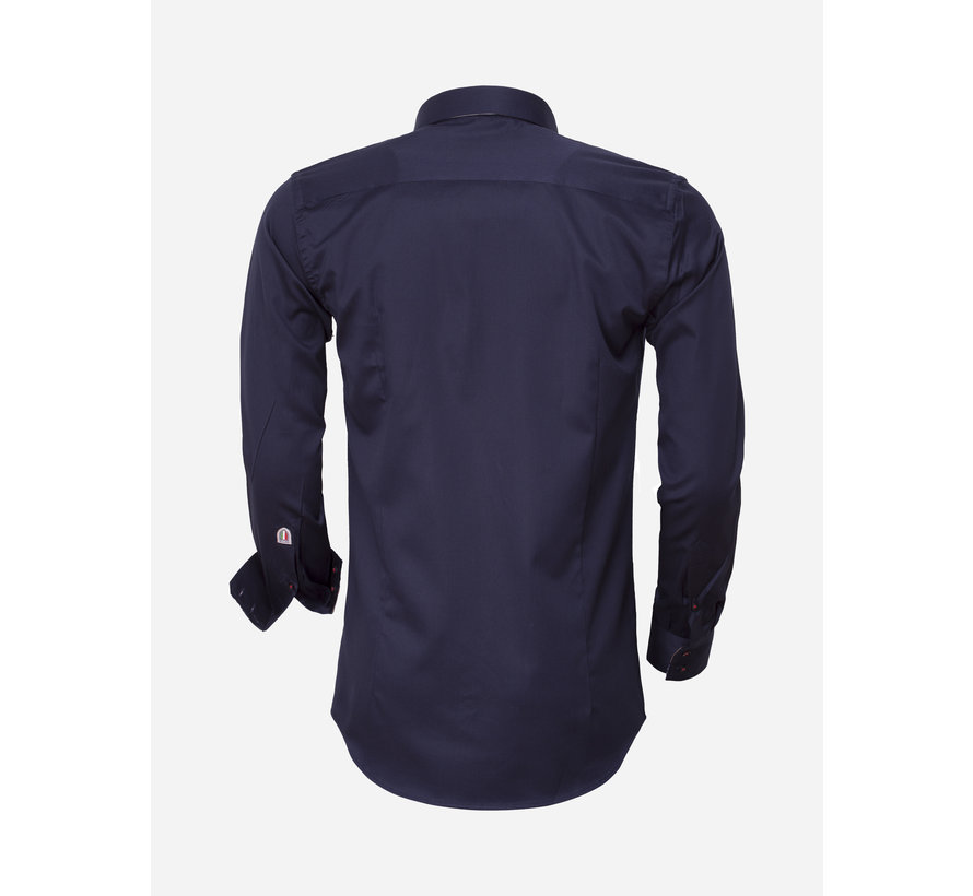 Overhemd Lange Mouw  75418 Navy