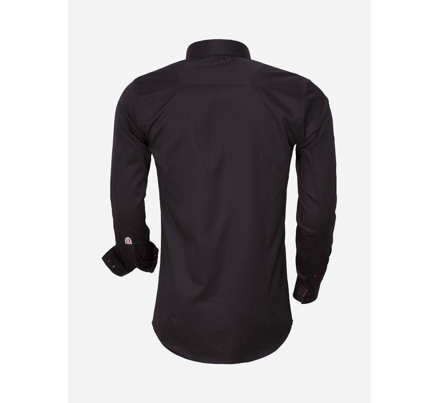 Overhemd Lange Mouw 75418 Black